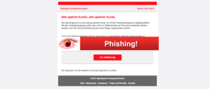 2017-10-25 Sparkasse Phishing Wichtige Kundeninformation