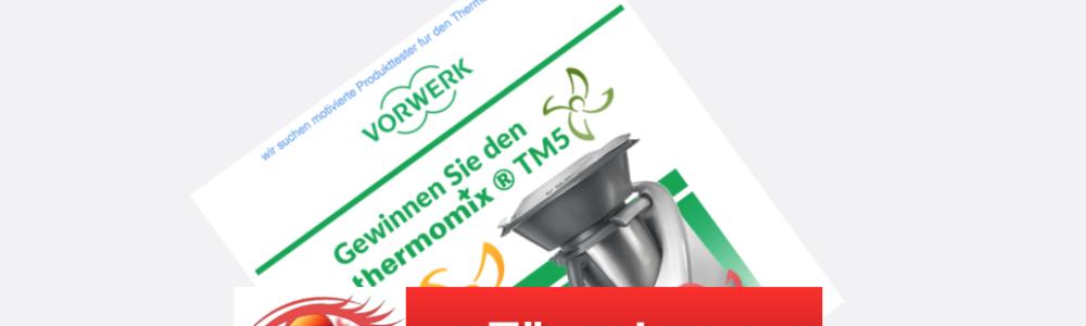 Vorsicht Datensammler: Produkttester / Gewinnspiele für den Thermomixer gesucht