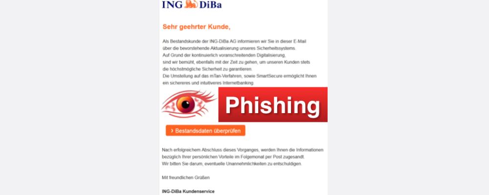 "Ing-DiBa Spam: ""Information für Sie (Vorgang: DJ2-LSSS)"" ist Phishing"