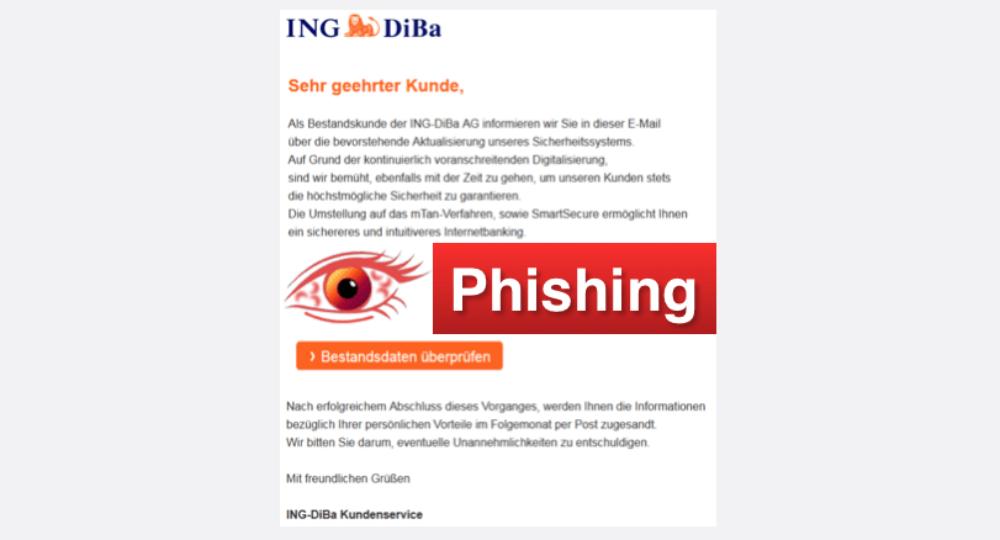 Ing-DiBa Spam: Gefälschte E-Mail zu mTan-Verfahren und SmartSecure ist Phishing