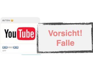 Facebook Nachricht YouTube Falle