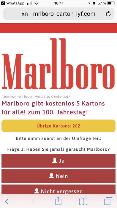 Marlboro Gewinnspiel Heute