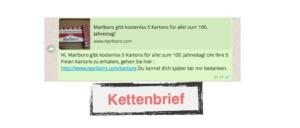Gewinnspiel Marlboro Kettenbrief WhatsApp