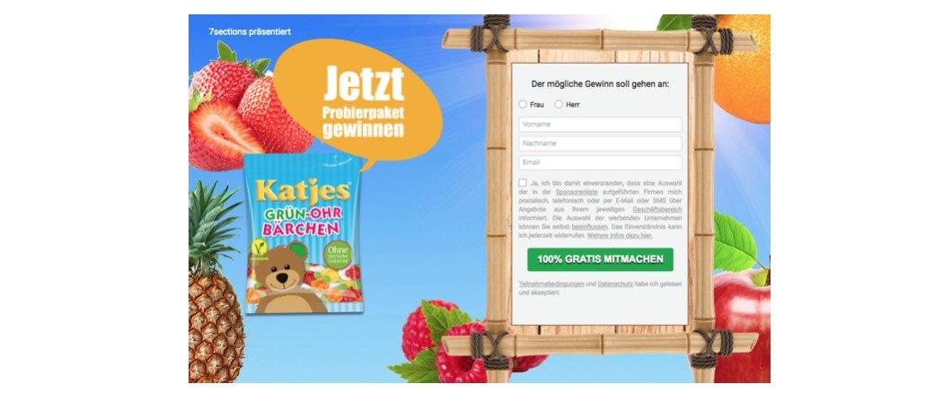 Katjes Gewinnspiel 7sections GmbH