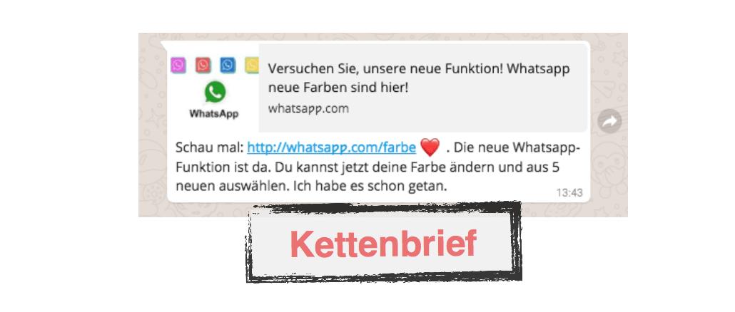 Kettenbrief WhatsApp bunte Farben