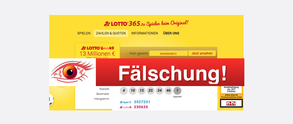 Lotto Alles Fake