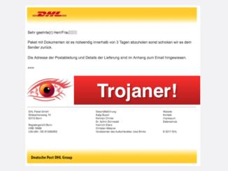 2017-11-02 Virus DHL Mail Trojaner Auf Ihre Adresse