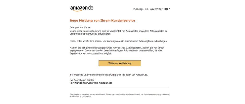 2017-11-13 Amazon Phishing