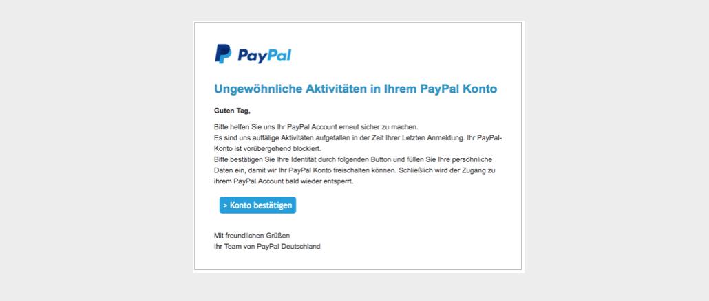 paypal konto freischalten