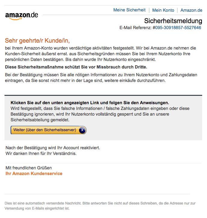 2018-07-26 Amazon Bekanntmachung vom Sicherheitsdienst