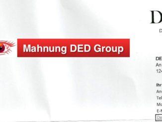 Betrug Mahnung DED Group Berlin