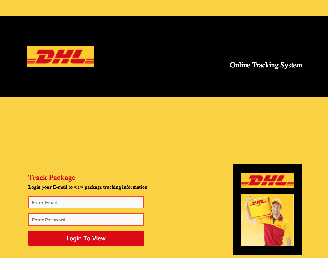 DHL Phishing Mail