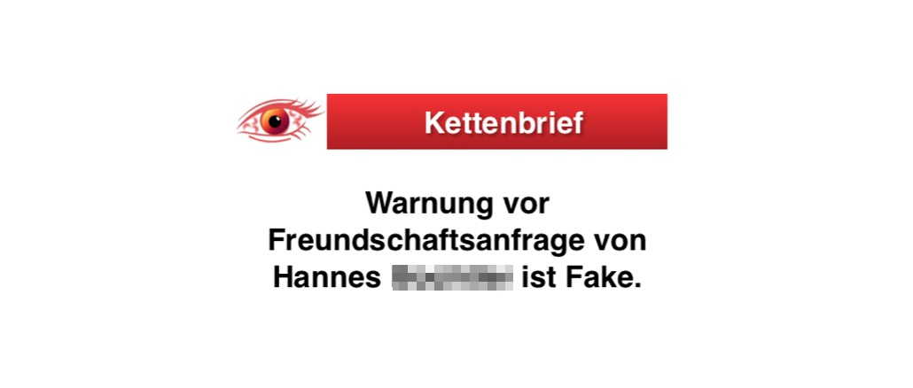Kettenbrief Freundschaftsanfrage Hannes
