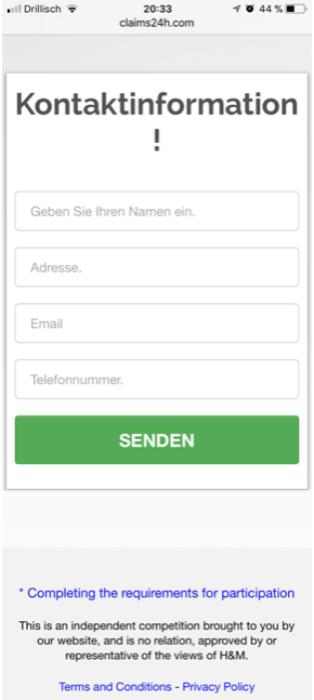 Kettenbrief WhatsApp H&M Gutschein 250 Euro2
