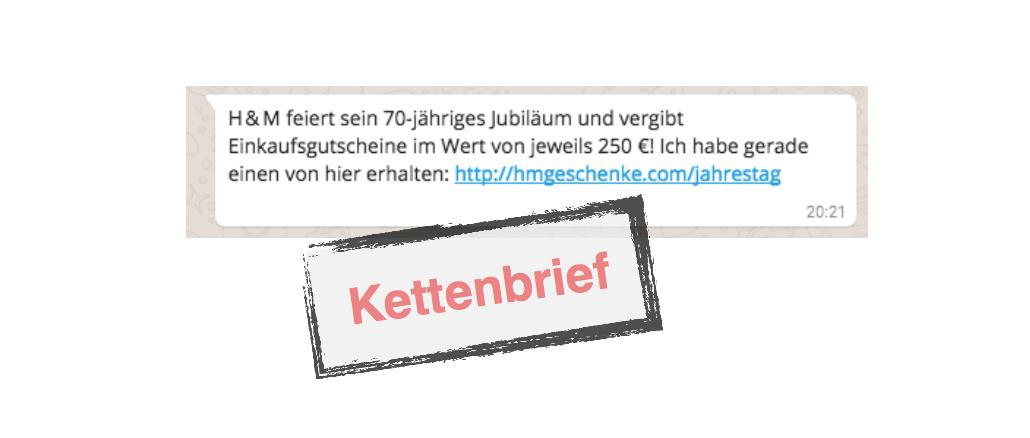 H&M Jubiläum Gutschein