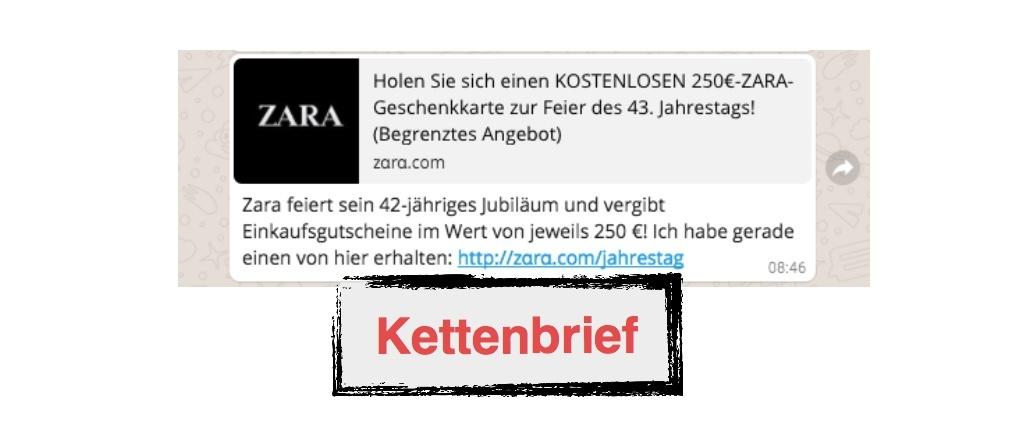 Zara feiert sein 42 jähriges Jubiläum + vergibt 250 Euro