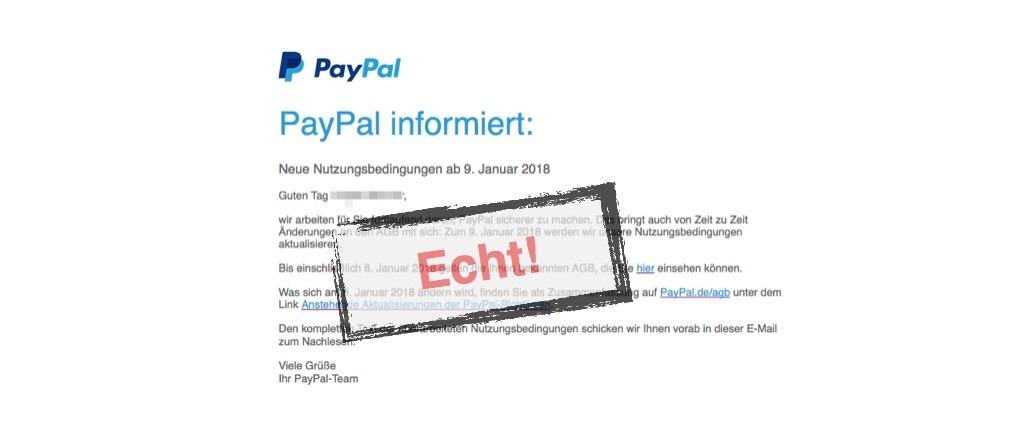 paypal änderung