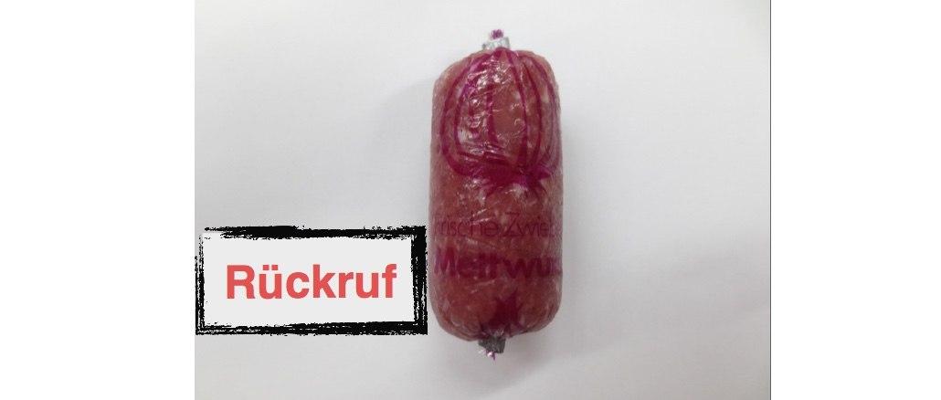 Rückruf Franken-Gut Fleischwaren GmbH Zwiebelmettwurst