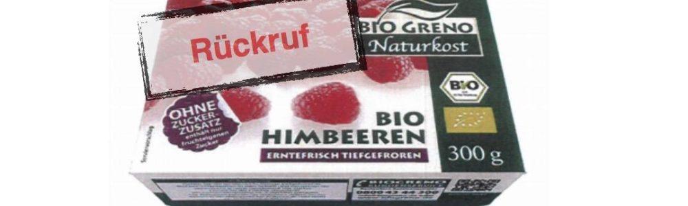 Rückruf BIO GRENO Himbeeren der Firma Jütro: Verdacht auf Noroviren