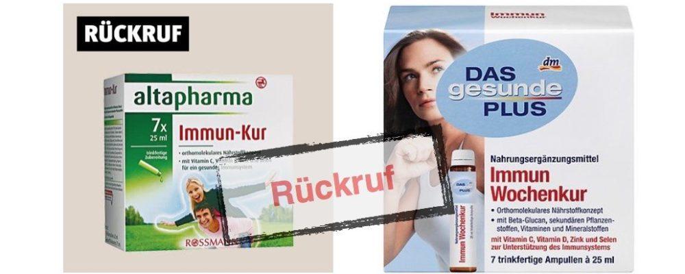 DM und Rossmann: Rückruf von Immun-Kuren – Allergische Reaktionen möglich