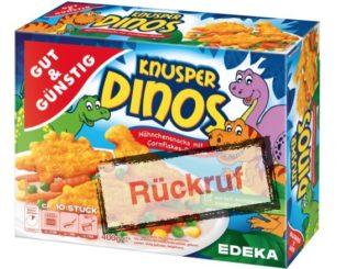 Rückruf Knusper Dinos Edeka und Marktkauf
