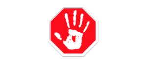 Symbolbild Stopp Halt Gefahr