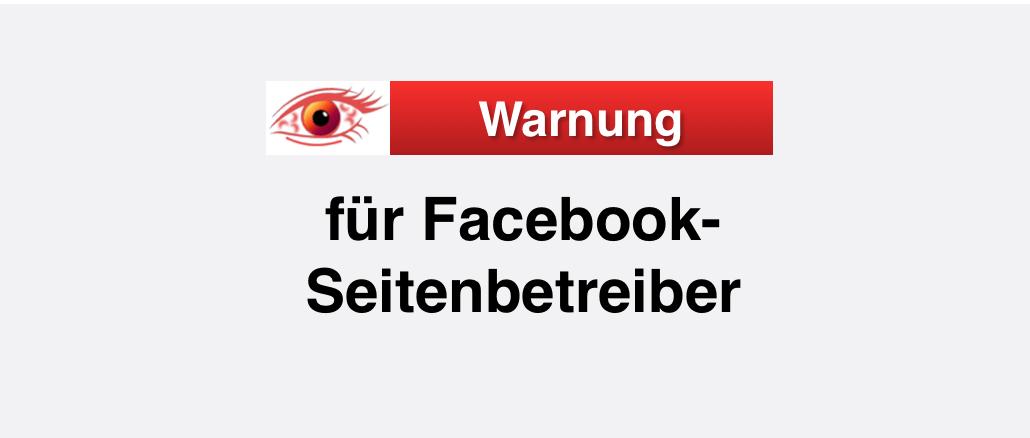 Warnung Faceboo Seitenbetreiber Phishing