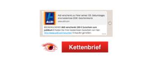 WhatsApp Aldi Kettenbrief 250 Euro