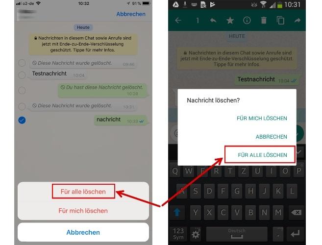 WhatsApp: Gesendete Nachrichten löschen - so gehts ganz