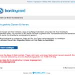 15.12.2017 Barclaycard Spam Ihre Kreditkarte wurde gesperrt