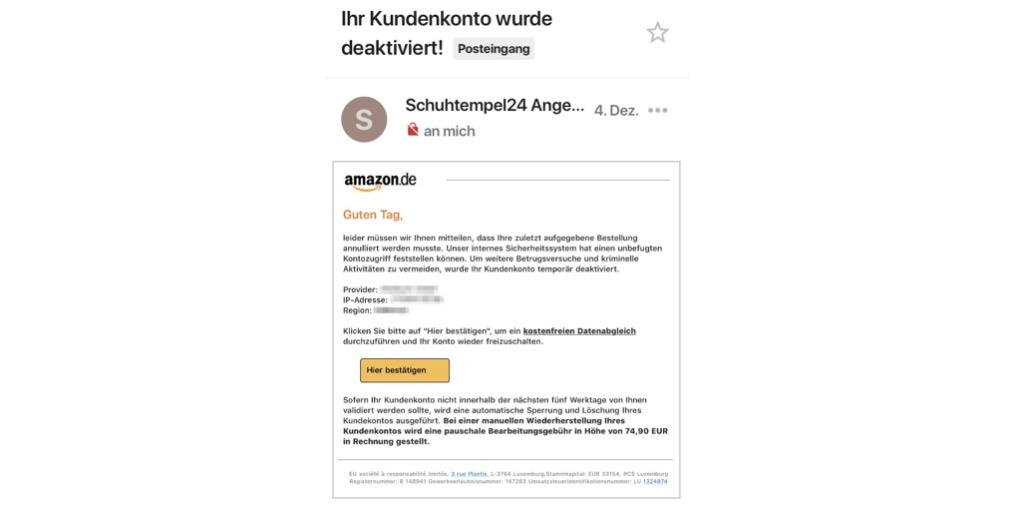 2017-12-05 Phishing Amazon