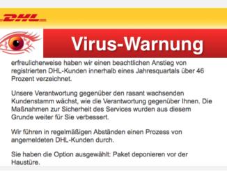 2017-12-08 DHL Virus Ihr Paket ist unterwegs zu Ihnen