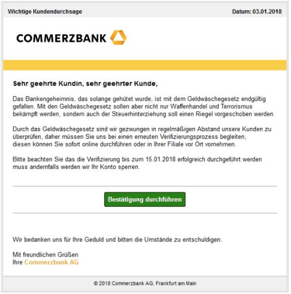 2018-01-04 Commerzbank Spam-Mail Aktualisierung unserer Richtlinien
