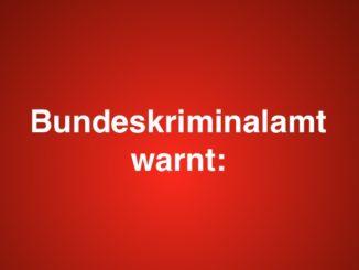 Bundeskriminalamt warnt Symbolbild