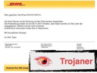 DHL Virus Mail Trojaner