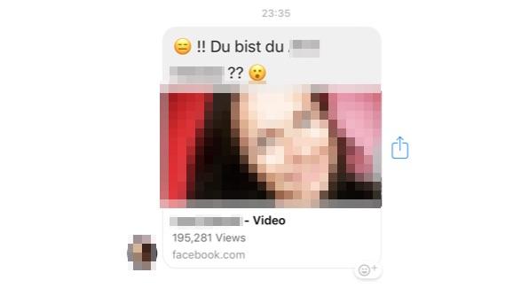 Facebook Nachricht Youtube Video