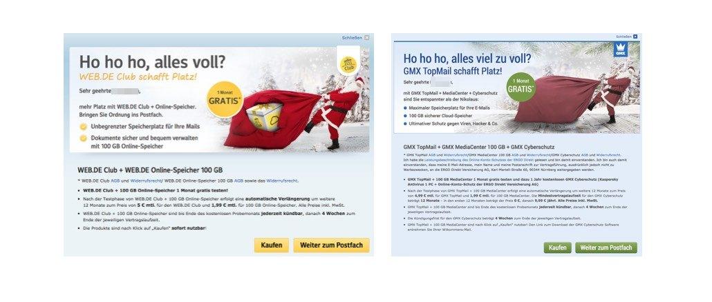 GMX Web.de Werbung