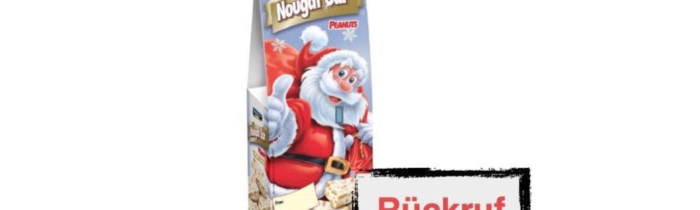 Action Deutschland ruft Montevergine Nougat-Riegel mit Erdnüssen / Weihnachtsverpackung zurück