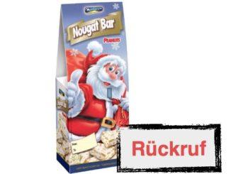 Rückruf Action Deutschland Montevergine Nougat-Riegel