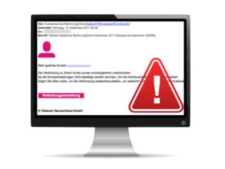 Spam Mail Telekom Rechnung Mobilfunk