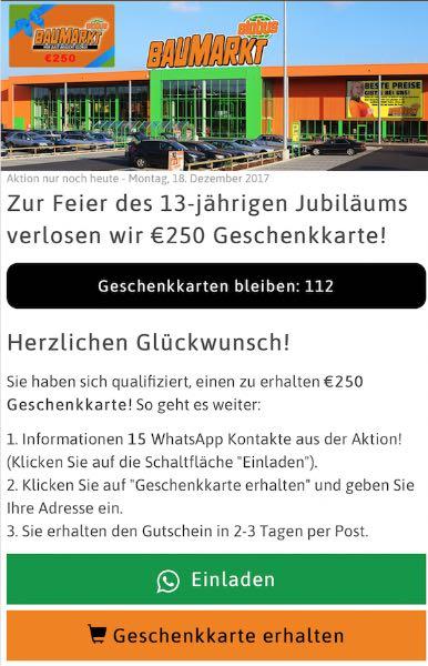 WhatsApp Globus Baumarkt Aktion teilen