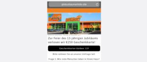 Whatsapp Kettenbrief 250 Euro Geschenkkarte Globus Baumarkt