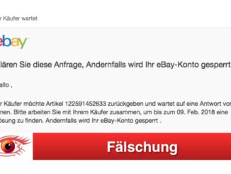 ebay Phishing aktuelle Spam-Nachrichten