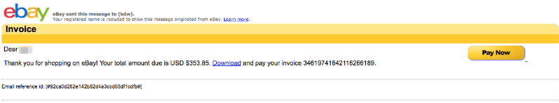ebay Spam Mail Virus Download