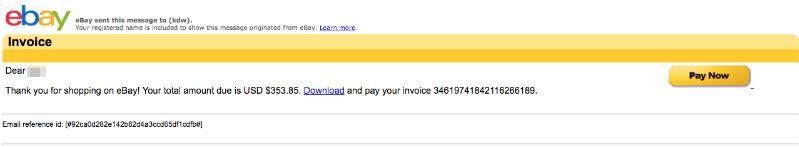 ebay Spam Mail Virus Download