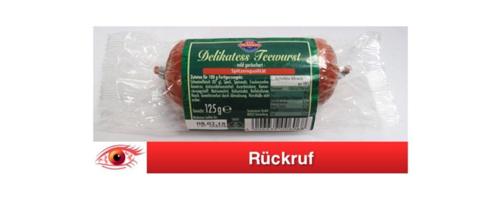 Teewurst Rückruf: Stockmeyer Delikatess Teewurst 125g wegen Salmonellen