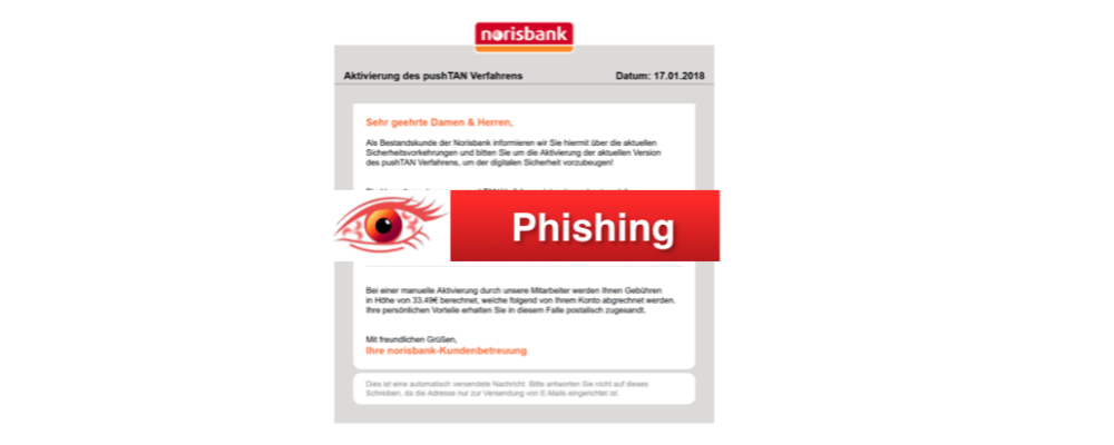 norisbank Phishing: Diese Spam-Mails sind gerade aktuell