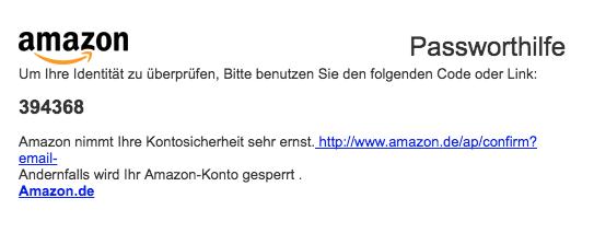 2018-01-25 Amazon Spam Bestätige deine Identität
