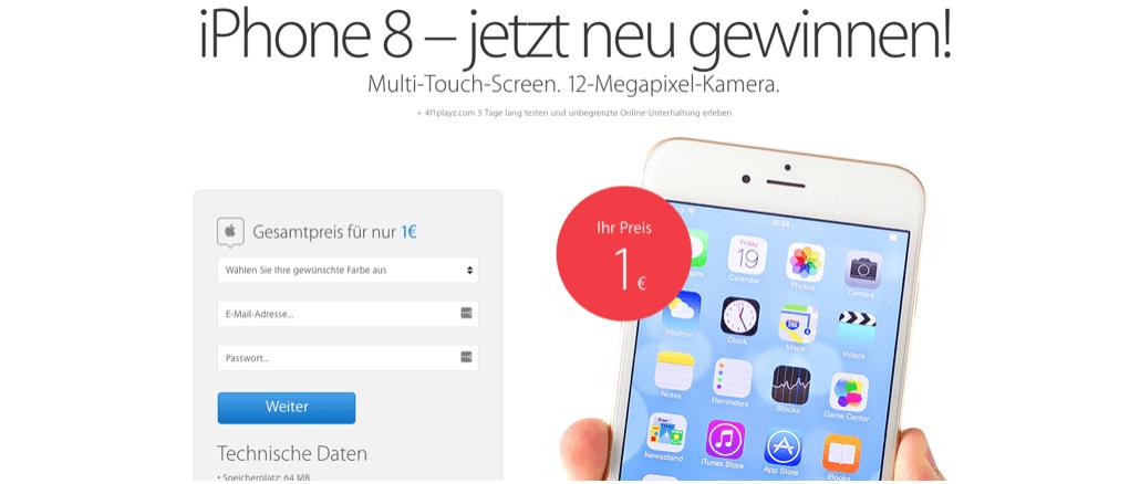 Abofalle iPhone 8 für einen Euro