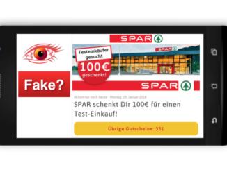 WhatsApp Kettenbrief Spar Filial-Tester gesucht 100 Euro Gutschein